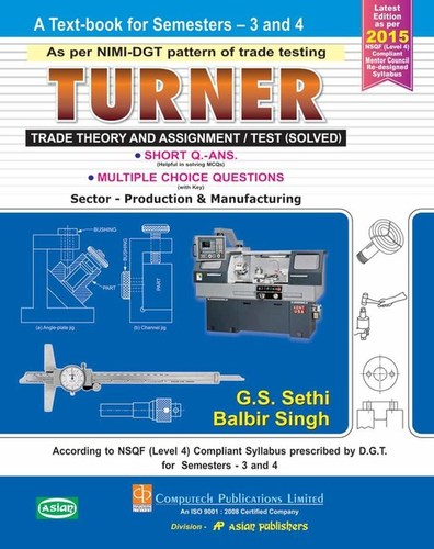 TURNER TRADE THEORY SEM 3 AND 4 Publisher In Delhi,TURNER TRADE