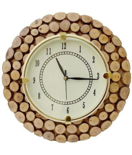 Desi Karigar Brown Wooden Clock