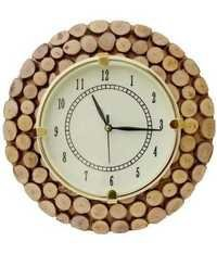 Desi Karigar Brown Wooden Clock