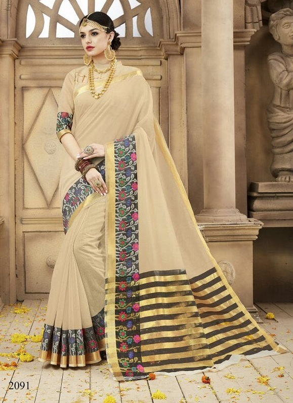It's A Masterpiece Blue Woven saree