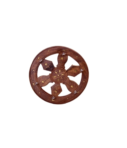 Desi Karigar Brown Fancy Wooden Wall Key Hanger Holder House Kitchen Keys Decorative Hanging