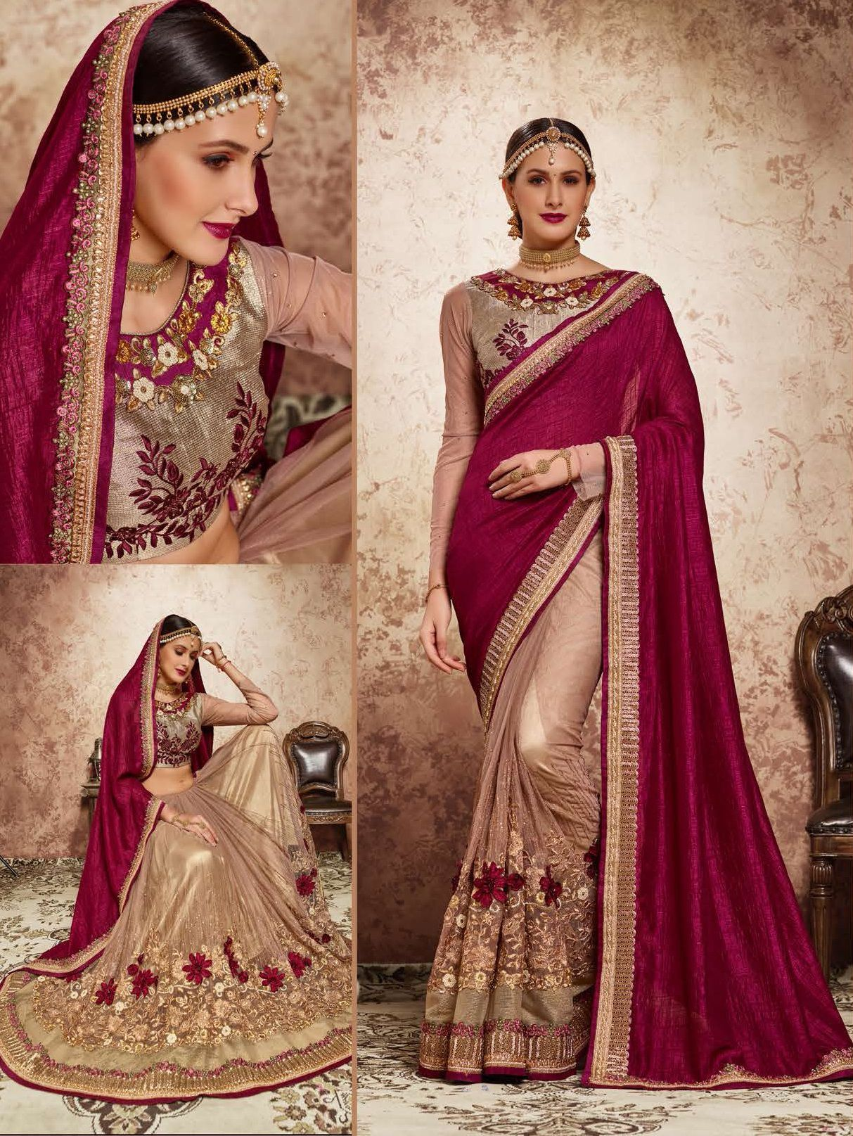 Best Way To Go stylish With Pink Georgette Saree