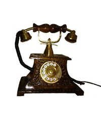 Desi Karigar Wooden Telephone Showpiece