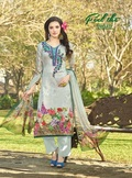 Expressive Beige Cotton Printed Stylish Suit