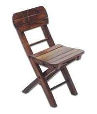 Desi Karigar Mango Wood Fancy Small Foldable Chair