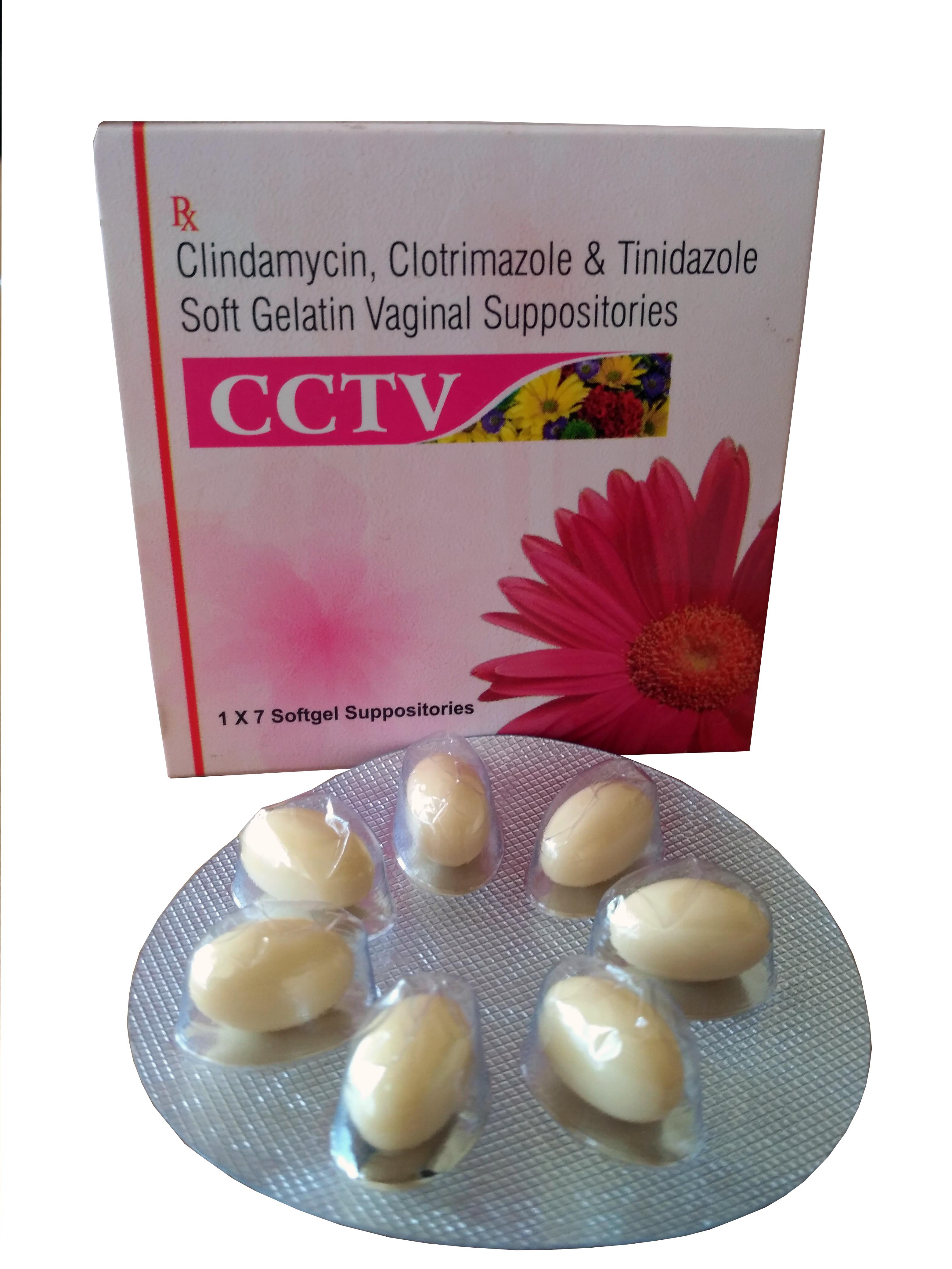 Composition: Clindamycin, Clotrimazole, Tinidazole Soft Gelatin Vaginal Suppositories
