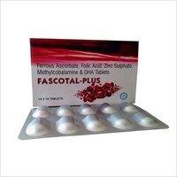 Ferrous Ascorbate, Folic Acid, Zinc Sulphate, Methylcobalamine & DHA Tablets