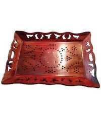 Desi Karigar Brown Wooden Multipurpose Tray