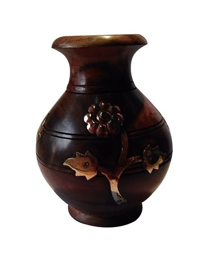Desi Karigar Wooden Decorative Flower Pot
