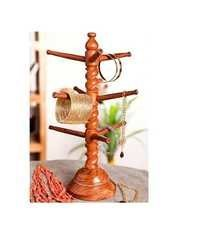 Desi Karigar Wood Carving Cutter Work Bangle Stand