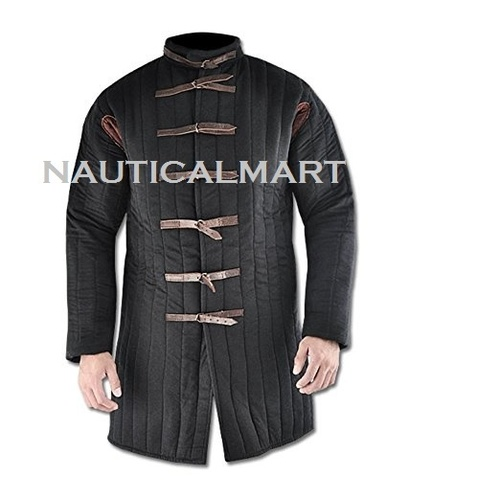 Gambeson Medieval Armor Padding - Large Black