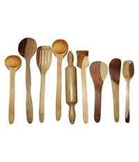 Desi Karigar Wooden Spoon Set of 9 Pcs/Wooden Spatula, Ladle & Kitchen Tool Set