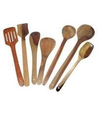 Desi Karigar Wooden Spoon Set of 7 Pcs/Wooden Spatula & Ladle Set