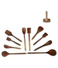 Desi Karigar Wooden Skimmer - 11 Pieces