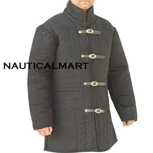 Modifiable Gambeson with Optional Half-Sleeves - Black