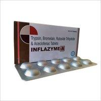 Trypsin Bromelain rutoside trihydrate aceclofenac Tablets
