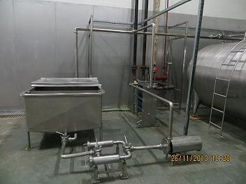 MILK RECEPTION TANK