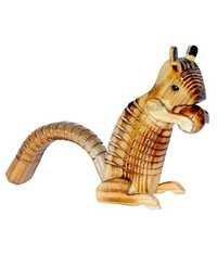 Desi Karigar Brown Wooden Squirrel Toy