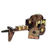 Desi Karigar Antique Bullock Cart Tea Coaster Of Wooden