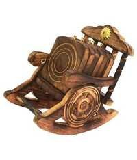 Desi Karigar Antique Rocking Chair Tea Coaster Of Wooden