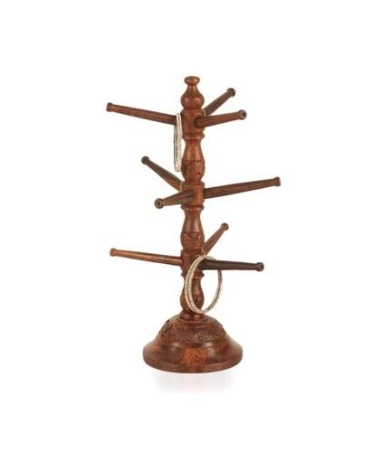 Desi Karigar Wooden Handicraft Wooden Bangle Stand