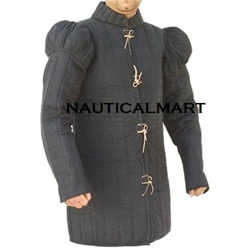 Medieval 15th Century Gambeson - Black
