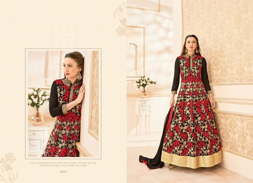 Shop Full Embroidered Anarkali Suit Online