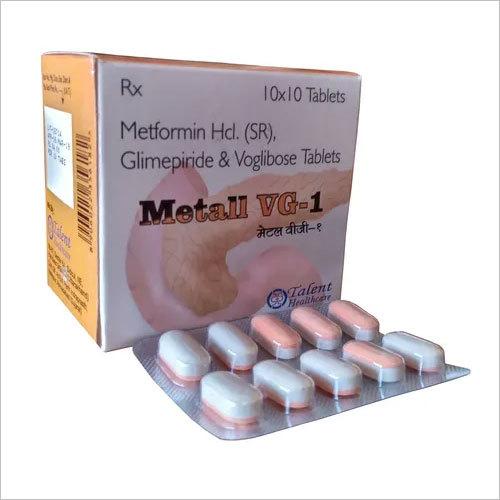 Metformin (SR) 500 MG + Glimepiride 1mg + Voglibose 0.2 mg