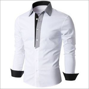 Men's Designer White Shirt