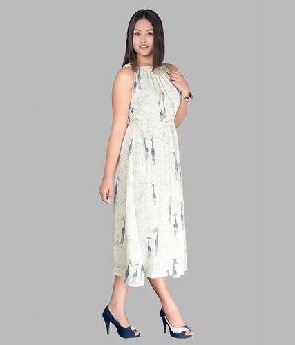 Cotton Sleeveless One Piece Dress