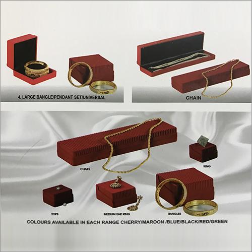 Velvet Box ring 20, tops 24, medium 40, bangle/ chain 60