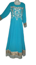 Attractive evening party wear fancy kaftan maxi dress