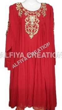 Gorgeous evening party wear short kaftan dress