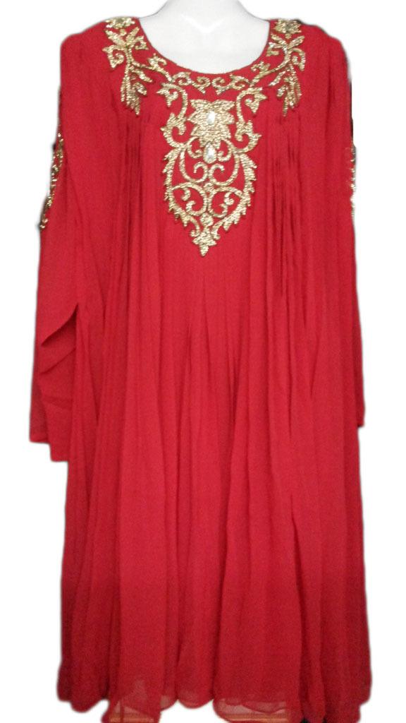 Gorgeous evening party wear short kaftan dress