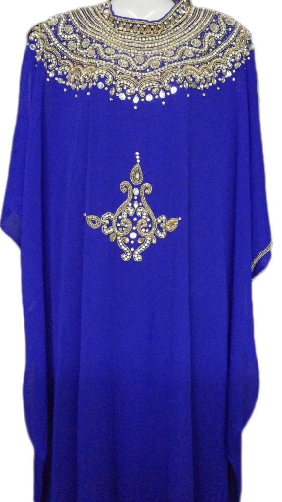 Royal Blue Farasha Jalabiya Kaftan