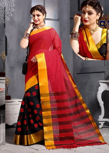 Red Border Cotton Saree
