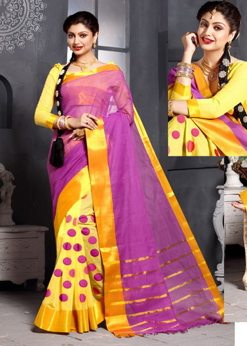 Printed Fancy Cotton Saree