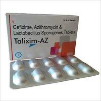 Cefixime, Azithromycin & Lactobacillus Sporogenes Tablets