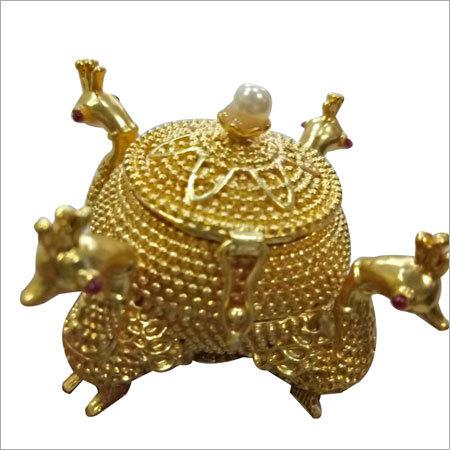 Gold Plated Kumkum dibbi