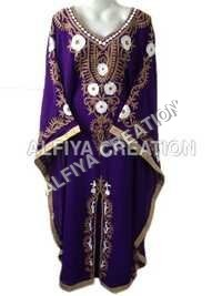 Long Sleeves Embroidered Jalabiya Kaftan