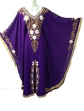 Long Sleeves Embroidered Jalabiya Kaftan