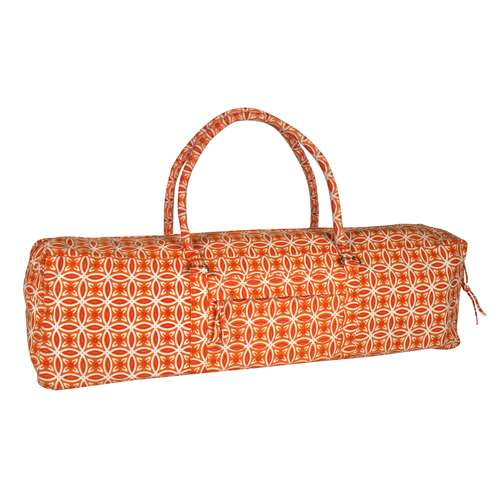 YOGA KIT BAG (SAFFRON) FULL BODY PRINTED