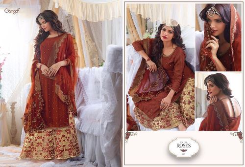 Pure Georgette With Heavy Embroidery
