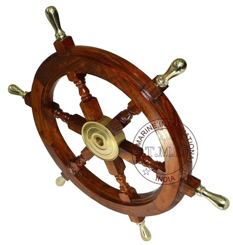 Brass Handle Wood Ship Wheel