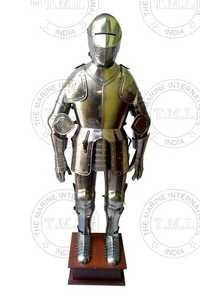 Medieval Knight Full Body Armour With Stand