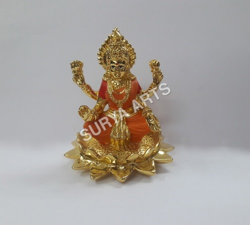 Gold Plated Laxmi Idol