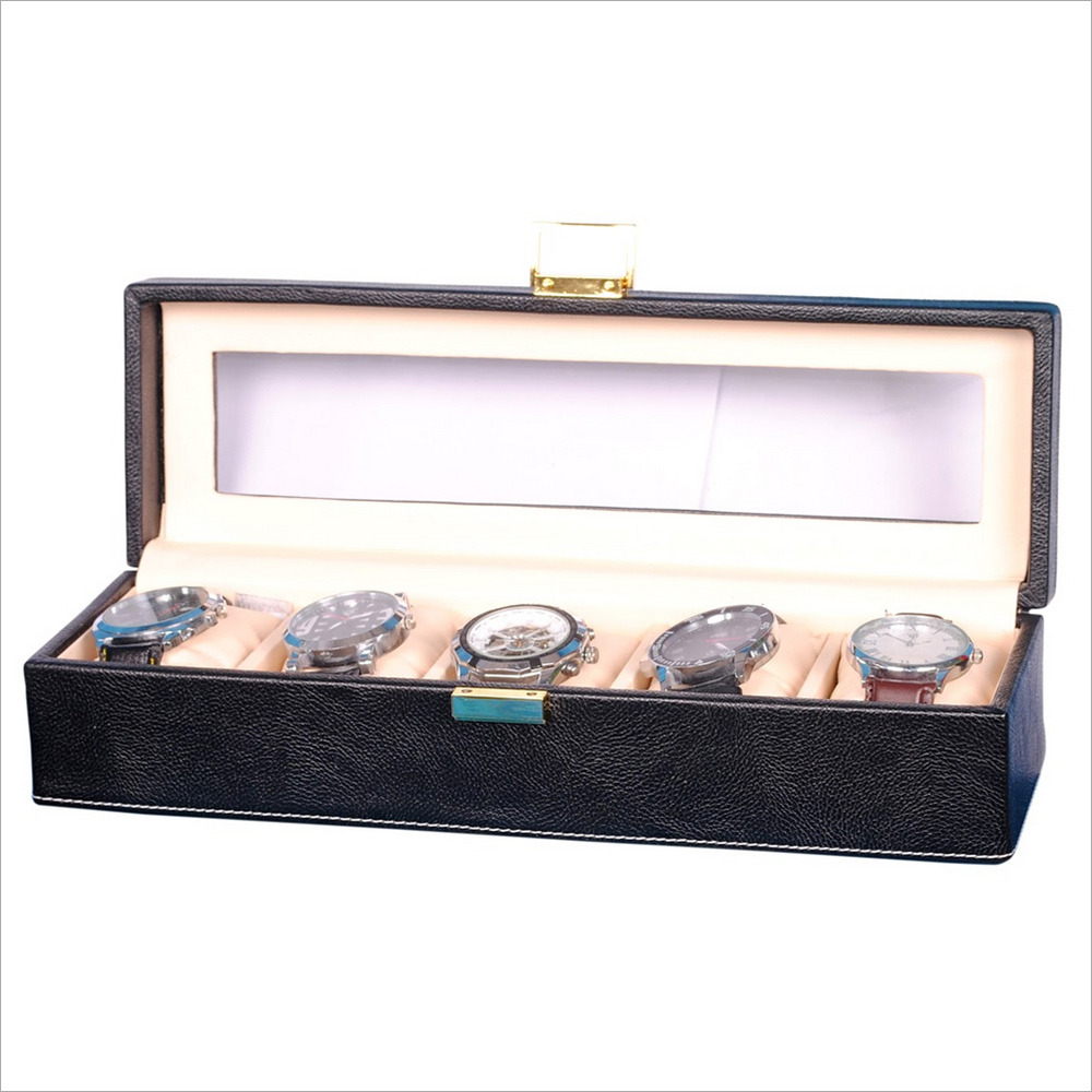 Hardcraft Black Watch Box for 5 Watches