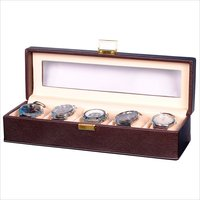 Hard Craft Brown Watch Box for 5 Watches