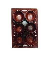Desi Karigar Brown Wood Tray Combo