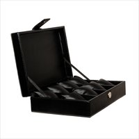 Hard Craft Watch Box Case PU Leather for 8 Watch Slots - Black
